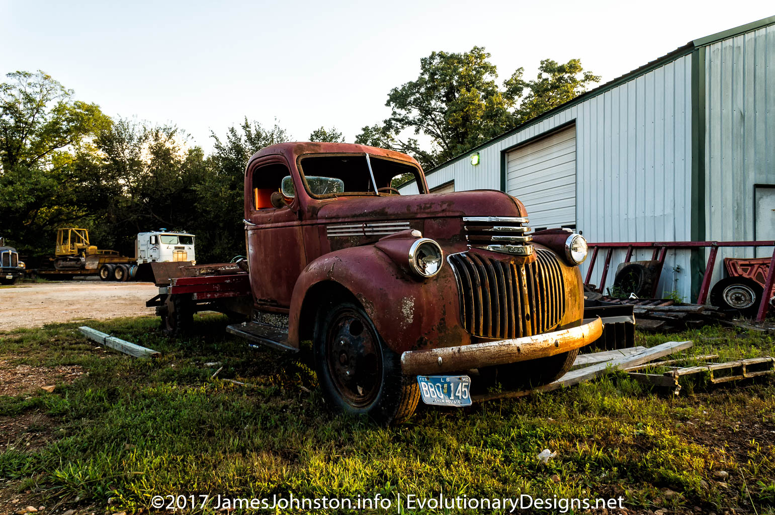 Old Abandoned Work Truck Near Kimberling, Missouri