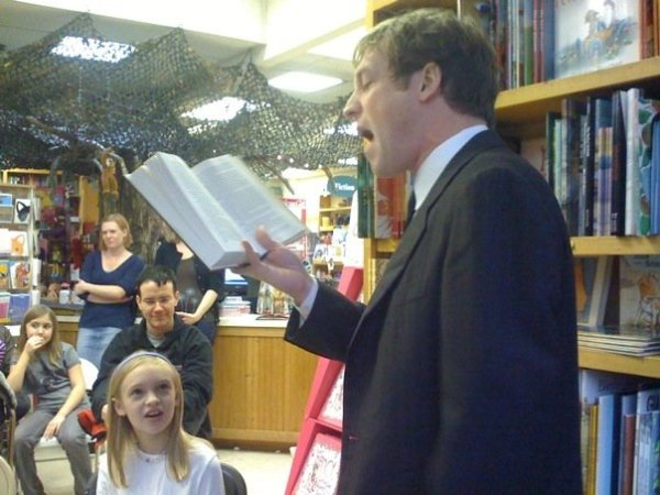Reading at the Magic Tree Bookstore