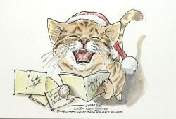 Caroling Kitty