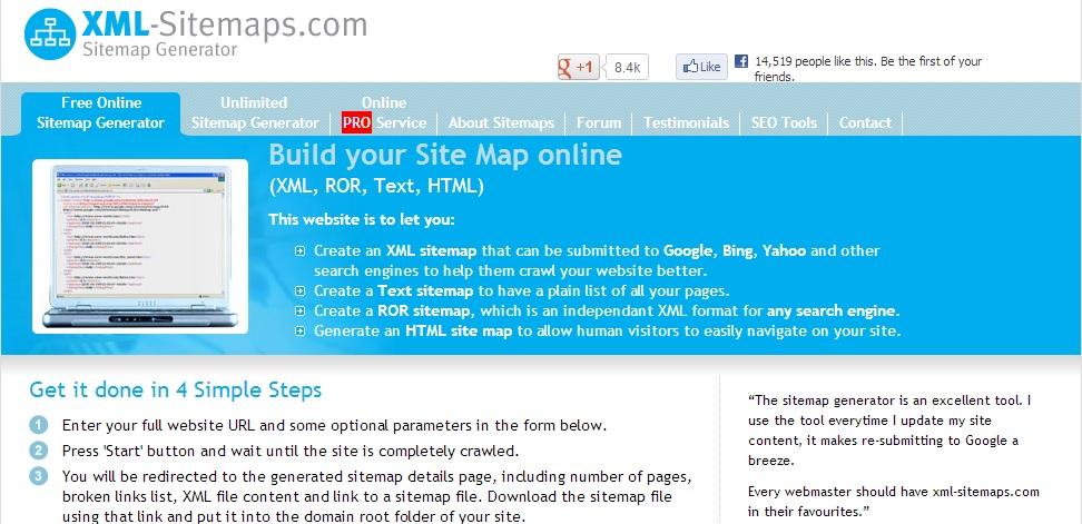 free online unlimited xml sitemap generator slimniyaseru