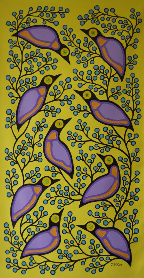 starlings and blueberries - James Mccue