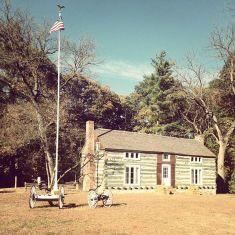 Ullysses S. Grant Log Cabin at Grant's Farm in St. Louis, Missouri