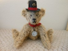 Milson, the Steampunk Bear-- German Mohair, Glass Eyes, by James Milson, 2014
