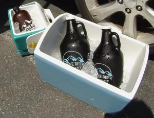 Grumbler of Babyface for post-ride, and growlers of Duet and Nelson to take to the Sierra for friends.