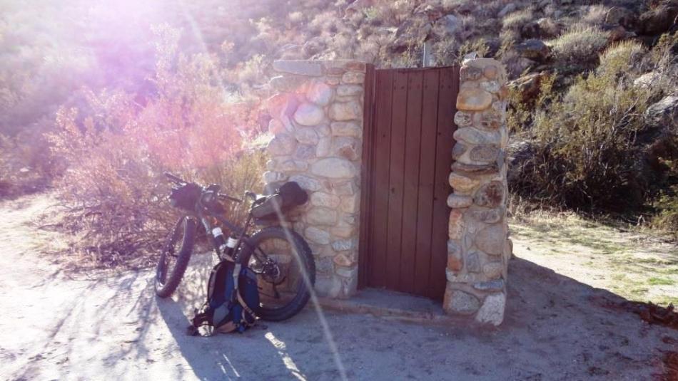 Sheep Canyon, Pit Toilet