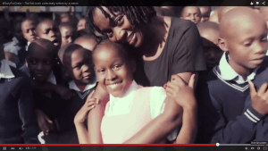 Chela hangs out with Auma Obama