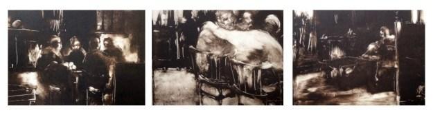 Pubs Scenes, Monoprints, 1993