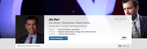 Jim's LinkedIn Profile Banner.