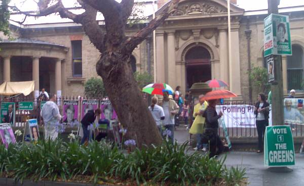 Polling Day at Bourke Street Primary School 2007
