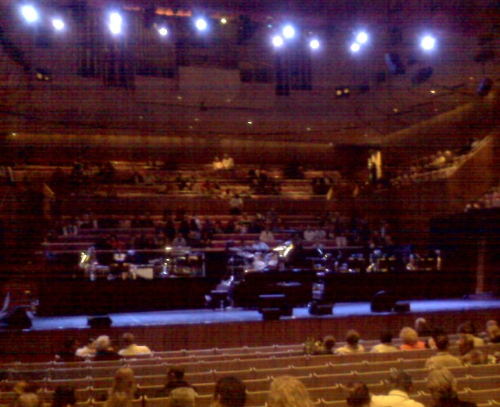 Inside the Concert Hall at Sydney Opera House as we awaited the Liza Minnelli Concert.