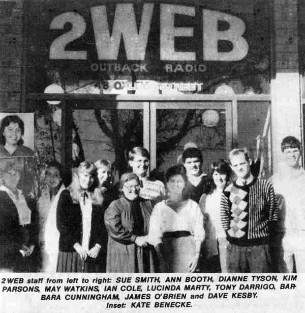 Official opening of 2WEB as featured in The Western Herald