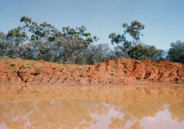 Lovin the colour contrast of this irrigation dam near Bourke
