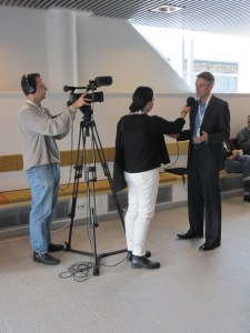 Tim Davie from BBC is interviewed
