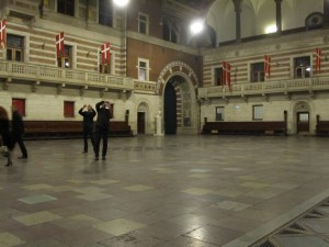 Everyone loved the indoors of the town hall in Copenhagen