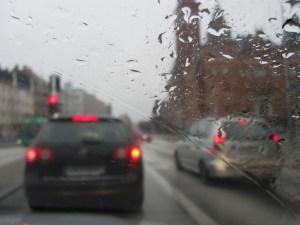 Driving through Helsingborg