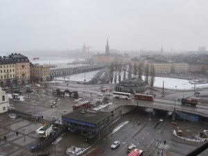 Stockholm this week, viewed from Katarinahissen