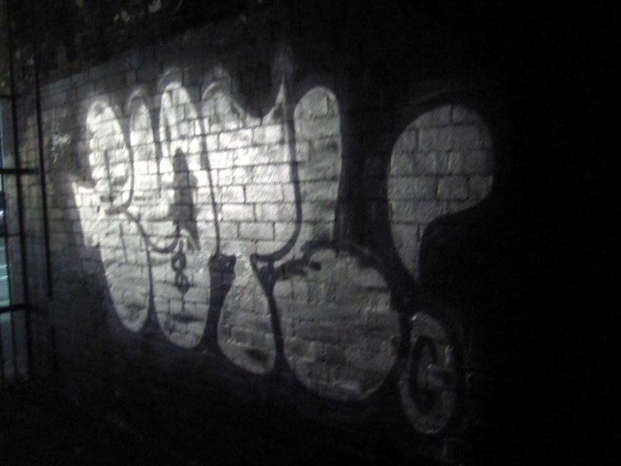 Fresh graffiti in my back laneway