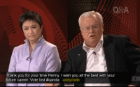 Penny Wong and Graeme Richardson on QANDA