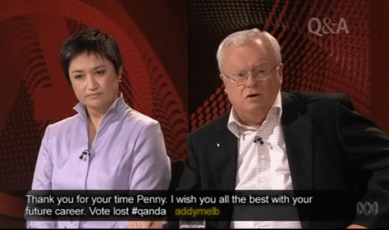 Penny Wong and Graeme Richardson on QANDA