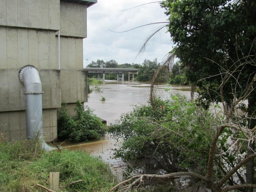Browns Creek pumping station at Lismore