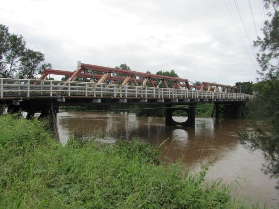 Double bridge viewed from Bridge Street, North Lismore