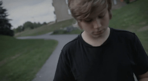 Still from the video for Fredrik