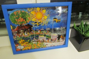 Happy, sunny, souvenir which will soon grace my office wall
