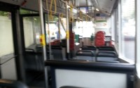 Empty 372 Bus in Sydney