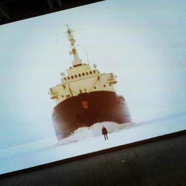 Loved the ice breaker work in the Sydney Biennale which opened last night at AGNSW.