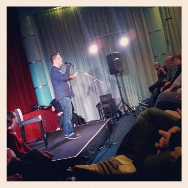 Richard Fidler hosts story-telling night in Perth.
