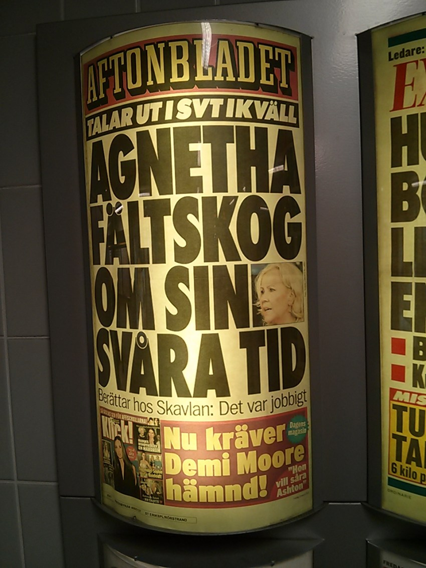 Speaking out on SVT tonight - Agnetha Faltskog on her difficult times.
