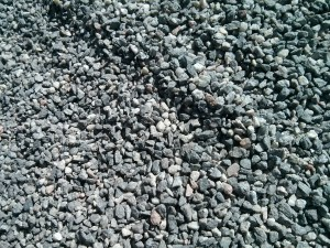 Gravel on the T-bana platform