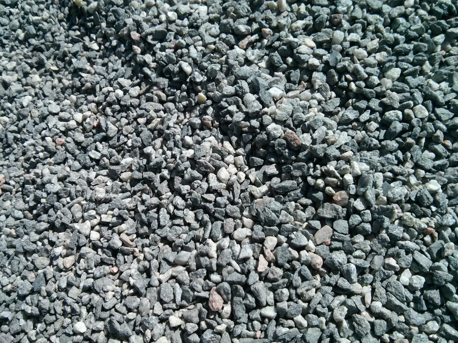 Gravel on the T-bana platform