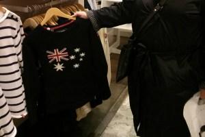 Australian flag jumper at NK