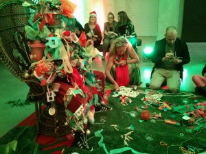 MCA Christmas Party Art Bar with Tony Albert - Human Christmas Tree, Caroline Garcia