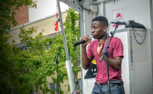 Rapping at Harlem Week