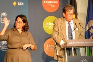 St Vincent's Hospital Director of Emergency Professor Gordian Fulde was named NSW Senior Australian of the Year.