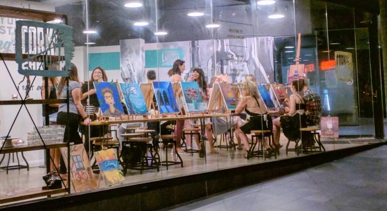 Art classes in Holt Street, Surry Hills