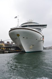 Cruise ship at Sydney's Circular Quay