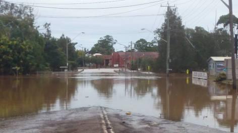 Receding waters, Union Street, South Lismore 2017