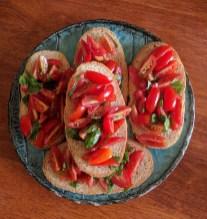 Bruschetta with awesome Nimbin tomatoes