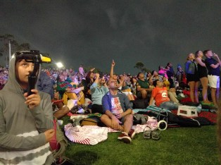 Selfie sticks and fireworks in Sydney for New Year's Eve