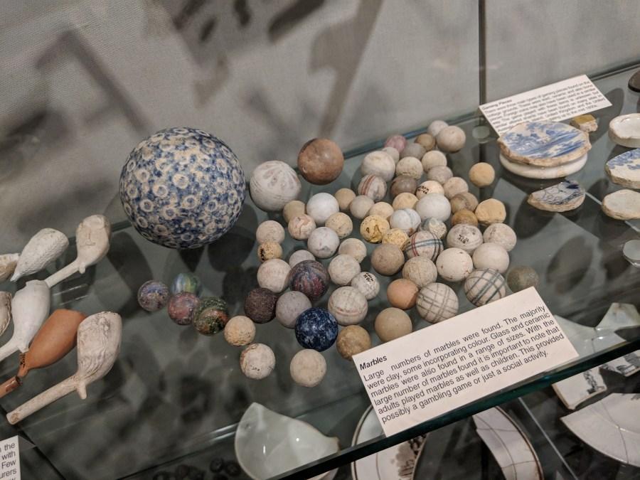 Marbles at Parbury Ruins