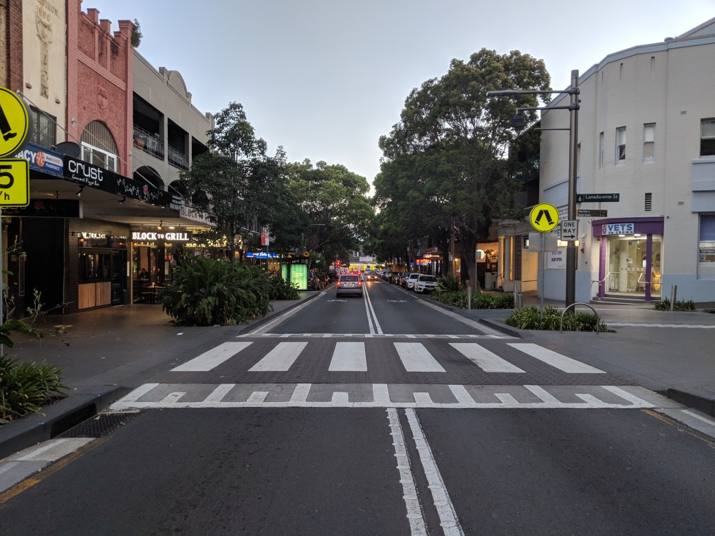 Crown Street, Surry Hills, looking towards Cleveland Street