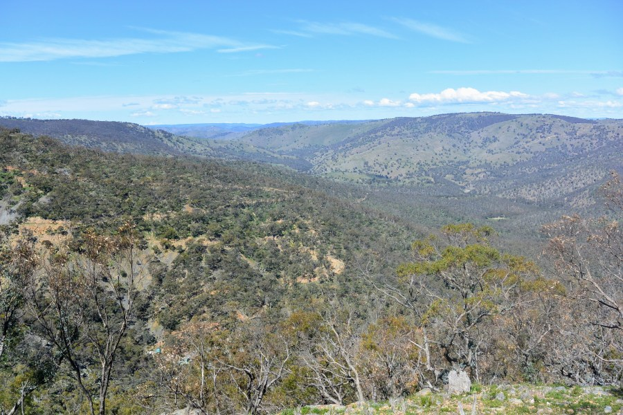 The view from Merlin's Lookout, near Hill End, NSW