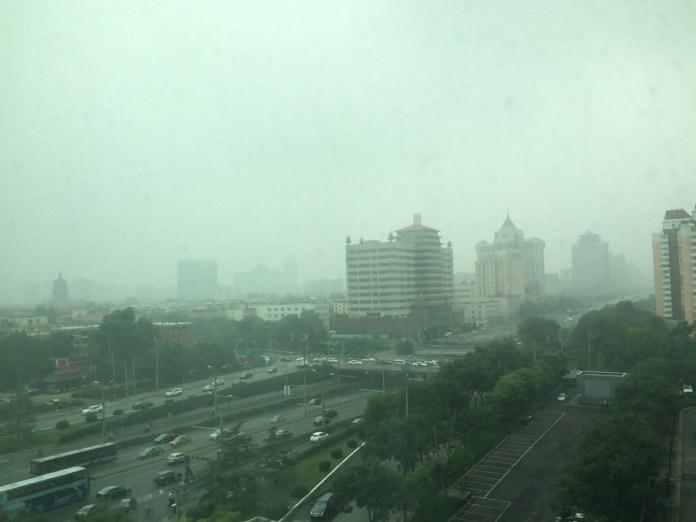 Beijing view - not smog, just overcast