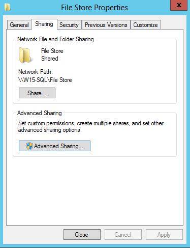 File Store Sharing & NTFS Permission on Lync Server 2013 (1/4)