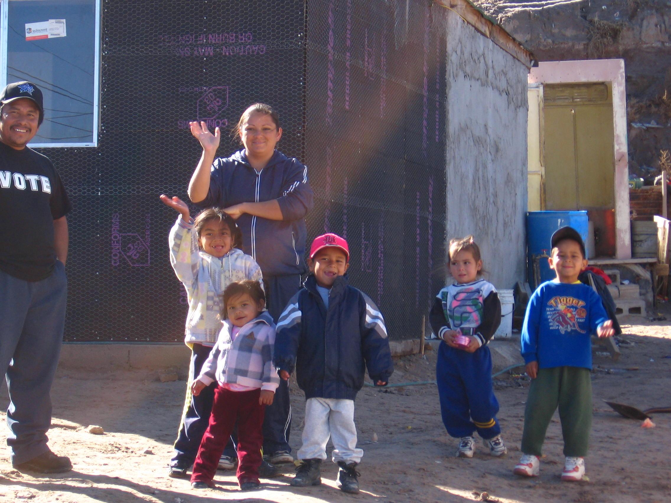 A family in the Anapra neighbourhood of Juarez, Mexico