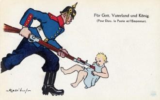 Bayoneting Belgian children