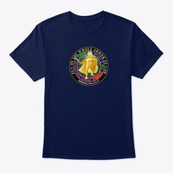 The Whole Armor Of God Navy T-Shirt Front